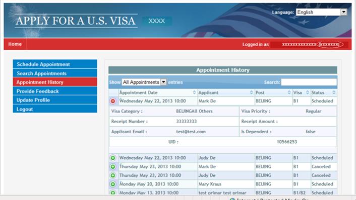 Requisitos necesarios visa americana